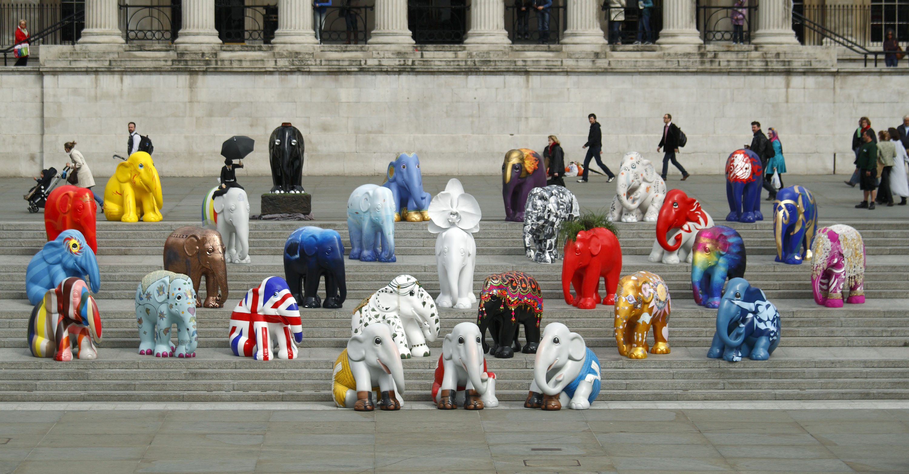 Attends The Launch Of The Elephant Parade 2010 At Trafalgar Square London, On May 4, 2010..   Mike Marsland Photos/The Elephant Parade