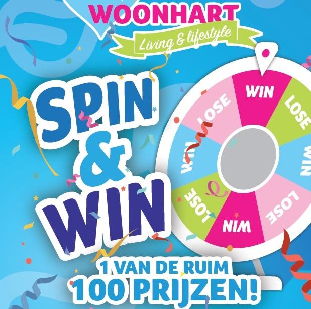 Spin En Win 1 Van De Ruim 100 Prijzen!